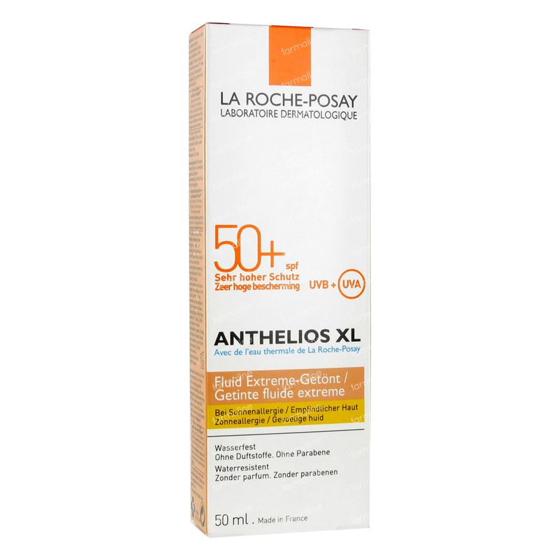 la roche posay anthelios spf50 fluide extra teinte 50 ml. Black Bedroom Furniture Sets. Home Design Ideas