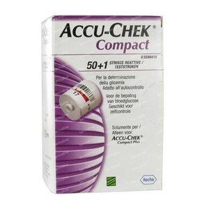 Accu-Chek Compact Strips Glucose 51 pièces