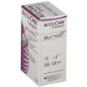 Accu-Chek Compact Strips Glucosis 51 pieces