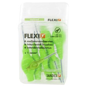 Flexi Interdentale Borstel Green Conisch 6 pièces