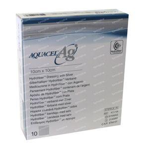 Aquacel Ag Bandage Hydrofiber Sterile 10cm x 10cm 10 pieces