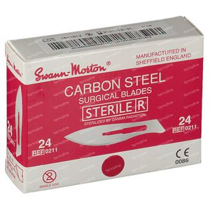 Bistouri Knife Swann Morton No 24 Sterile 100 pieces