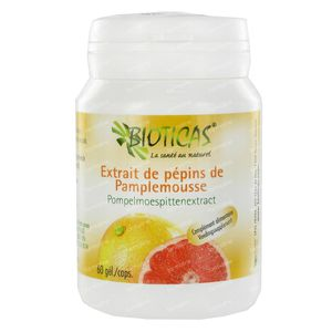 Pompelmoespitextract Bioticas 60 capsules