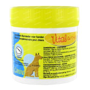Ecuphar Pet Phos Hond Vital Ca/P 1,3 100 tabletten