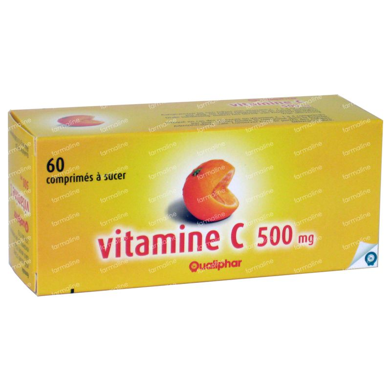 qualiphar vitamine c 500mg 60 comprim s commander ici en ligne. Black Bedroom Furniture Sets. Home Design Ideas