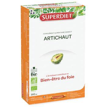 Superdiet Artichaut Bio 20x15 ml ampoules