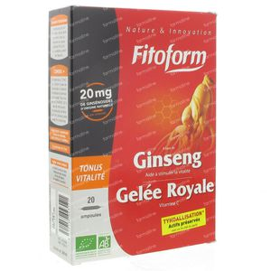 Bioholistic Ginseng Royal Jelly 20 St Ampoules