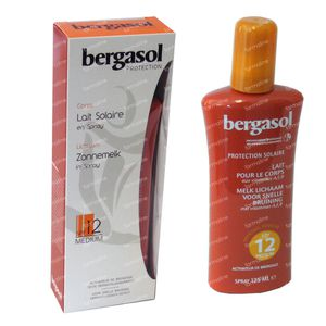 Bergasol Zonnemelk SPF 12 125 ml spray