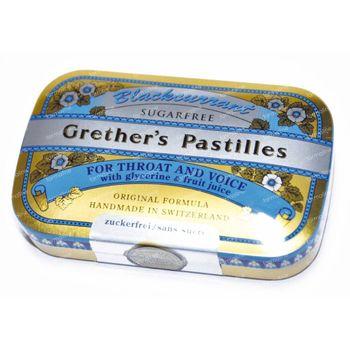Grethers Pastilles Blackcurrant Suikervrij 60 g