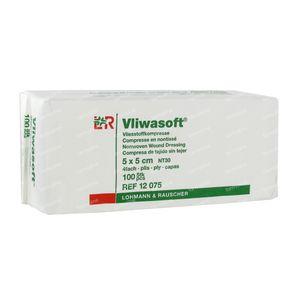 Vliwasoft 5 x 5cm 12075 100 compresses