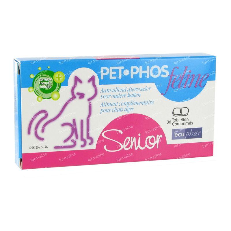 pet phos feline senior 36 st comprim s vente en ligne. Black Bedroom Furniture Sets. Home Design Ideas