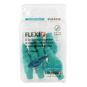 Flexi Brush Turquoise Extra Micro Fine 6 pieces