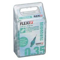 Flexi Turquoise Burste Extra Micro Fine 6 st