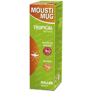 Moustimug Tropical Roller 30% DEET 50 ml rouleau
