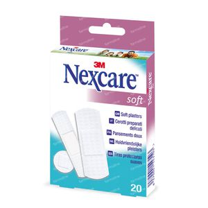 Nexcare 3M Soft Strips N0520As 20 pièces
