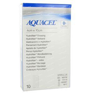 Aquacel Bandage Hydrofiber 10cm x 4cm 10 pièces