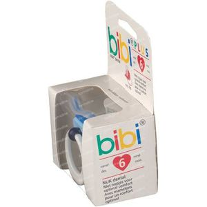 Bibi Pacifier Pop Dental Blue 6M 04 1 St
