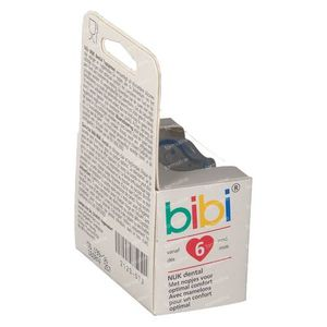 Bibi Fopspeen Pop Dental Blauw 6M 1 St