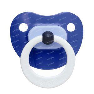 Bibi Fopspeen Pop Dental Blauw 6M  1 stuk