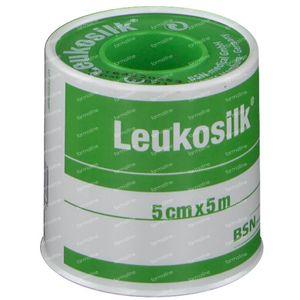 Leukosilk Kleefpleister 5cm x 5m 1 stuk
