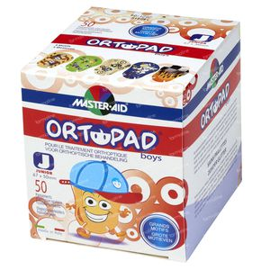Ortopad Boys Junior Eye Plaster 0-2 Years 50 St