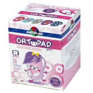 Ortopad Girls Regular Eye Plaster 5+ Years 50 St