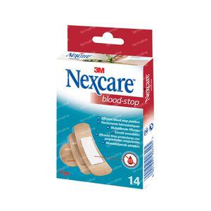 Nexcare 3M Patchs Bloodstop Assorted N1714As 14 pièces