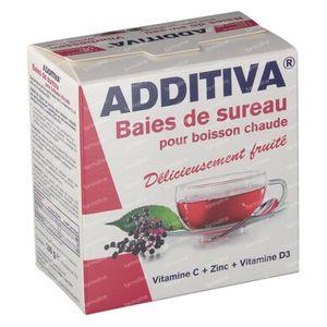 Additiva Sureau Boisson Chaud 10 pièces