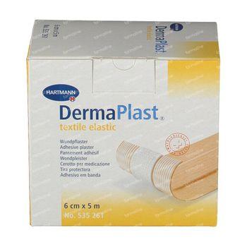 Hartmann Dermaplast Textile Elastic 6cm x 5m 261/6 1 pièce
