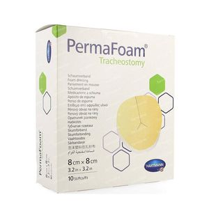 Hartmann Permafoam Trachéotomie Pansement Mousse 8x8cm 4094265 10 pièces