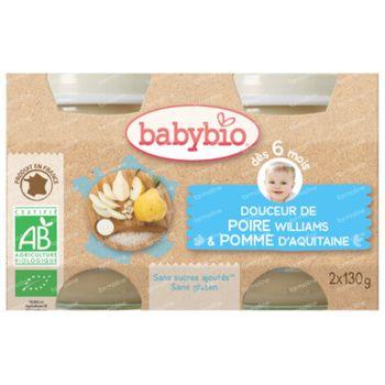 Babybio Appel-Peer 2x130 g