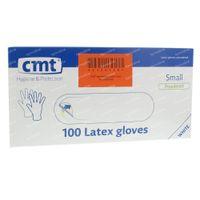 CMT Handschoenen Latex Wit LP Small 100 st