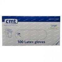 CMT Handschoenen Latex Wit LP Large 100 st