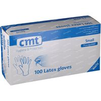 CMT Handschoenen Latex Wit PF Small 100 st