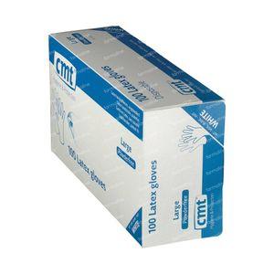 Texa Gloveen Latex White PF Large 100 pezzi