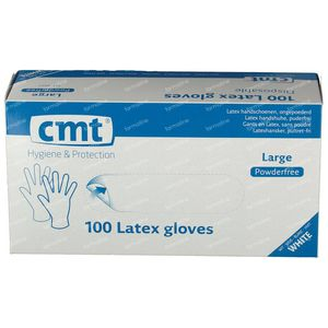 Texa Gloveen Latex White PF Large 100 unidades