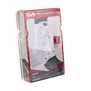 Mcdavid Lightweight Ankle Brace White Size M 1 pezzo