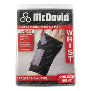 McDavid Carpel Tunnel 454 Wrist Support Right One Size 1 item