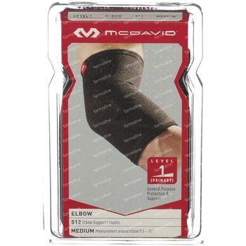 McDavid Elastische Elleboogbandage 512 Zwart Maat M 1 st
