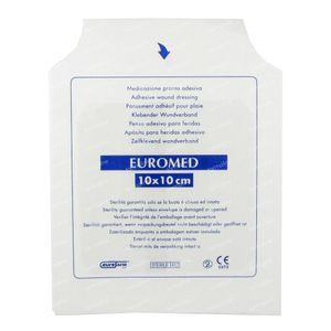 Euromed 10cm x 10cm Island Plaster Sterile 1 St