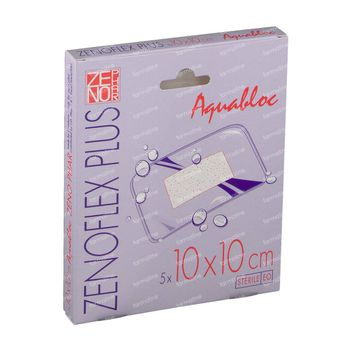 Zenoflex Plus 10cm x 10cm Pleister Steriel 5 pleisters