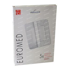 Euromed 10cm x 10cm Island Plaster Sterile 5 St