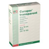 Curapor Transparant Steriel 10Cmx15Cm 13103 25 st