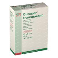 Curapor Transparant Steriel 8 x 10Cm 25 st