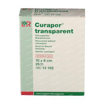 Curapor Transparant Steriel 8 x 10Cm 25 stuks