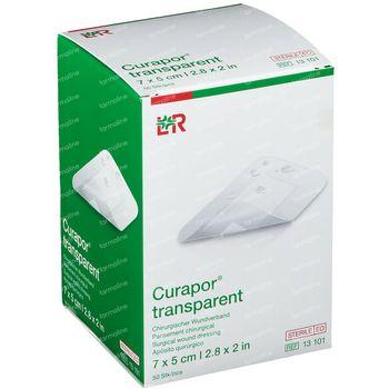 Curapor Transparant Steriel 7Cmx 5Cm 13101 50 stuks