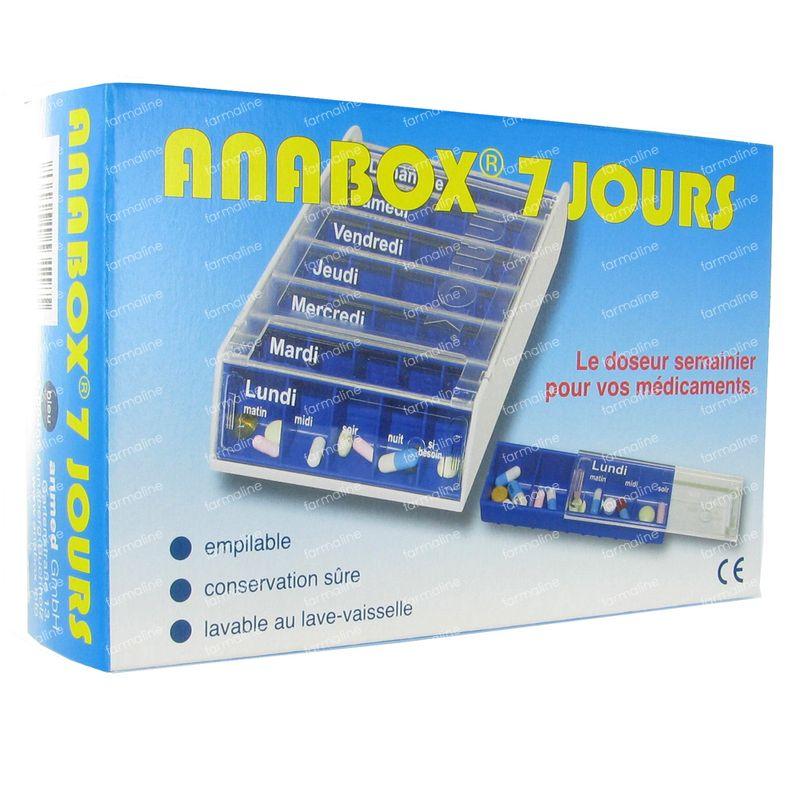 Pillendoosje Voor 7 Dagen.Anabox Pillendoos Blauw 7 Dagen Frans 1 Stuk Hier Online Bestellen