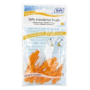 Tepe Interdental Brush Cyl. 0.45m Oranje XXX-Fine 8 St