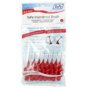 Tepe Brossettes Interdentaires 0.50mm Rouge 8 pièces
