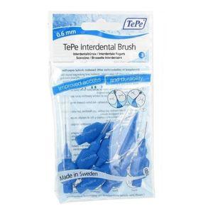 Tepe Brossettes Dentaires 0.60mm Bleu 8 pièces